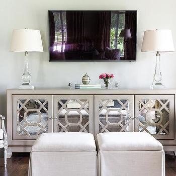 Mirrored Tv Cabinet Design Ideas Within Most Popular Mirror Tv Cabinets (Image 14 of 20)