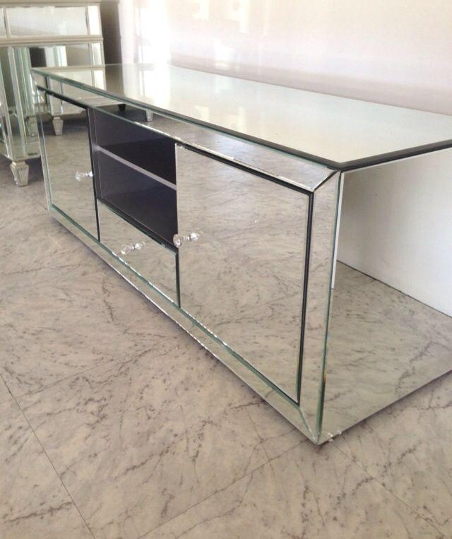 Mirrored Tv New Style Fashionable Glass Mirrored Tv Cabinet With Intended For Recent Mirrored Tv Cabinets Furniture (Image 16 of 20)