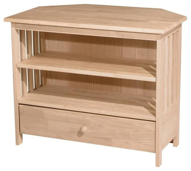 Mission Corner Tv Stand – Entertainment Centers And Tv Stands – Inside Current Corner Tv Stands (Image 17 of 20)