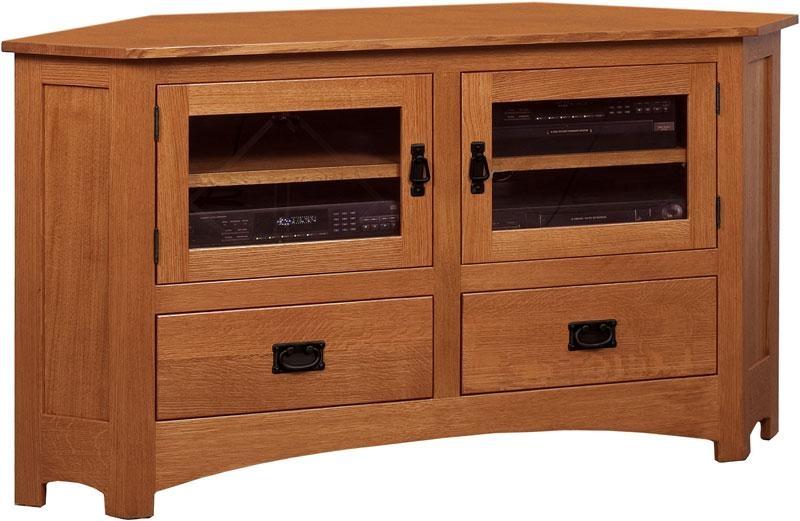 Mission Large Corner Tv Stand Regarding Recent Solid Wood Corner Tv Cabinets (Image 12 of 20)