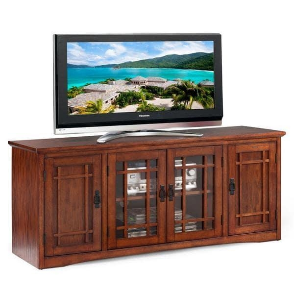 Mission Oak Hardwood 60 Inch Tv Stand – Free Shipping Today With Most Up To Date Oak Veneer Tv Stands (Image 13 of 20)