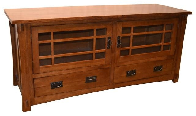 Mission Quarter Sawn Oak Tv Stand – Craftsman – Entertainment Inside 2018 Hardwood Tv Stands (Image 13 of 20)