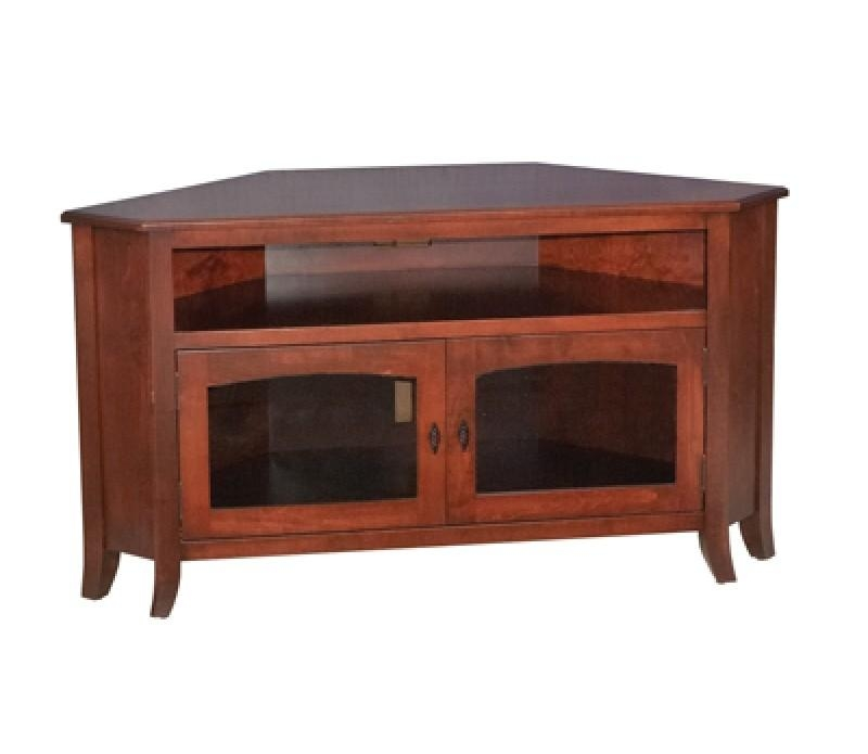 Mission Style Solid Wood Corner Tv Stand Pertaining To Most Up To Date Real Wood Corner Tv Stands (View 10 of 20)