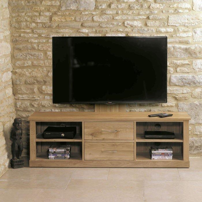 Mobel Oak Cantilever Tv Stand (Cor09E) Regarding Latest Cantilever Tv (Image 10 of 20)
