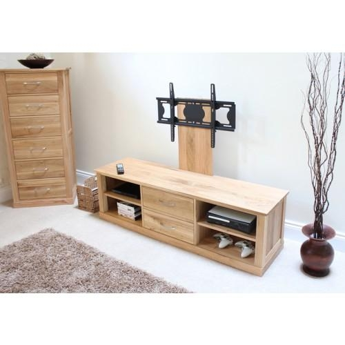 Mobel Oak Flat Screen Tv Stand With Mount In Latest Oak Tv Stands For Flat Screens (View 11 of 20)
