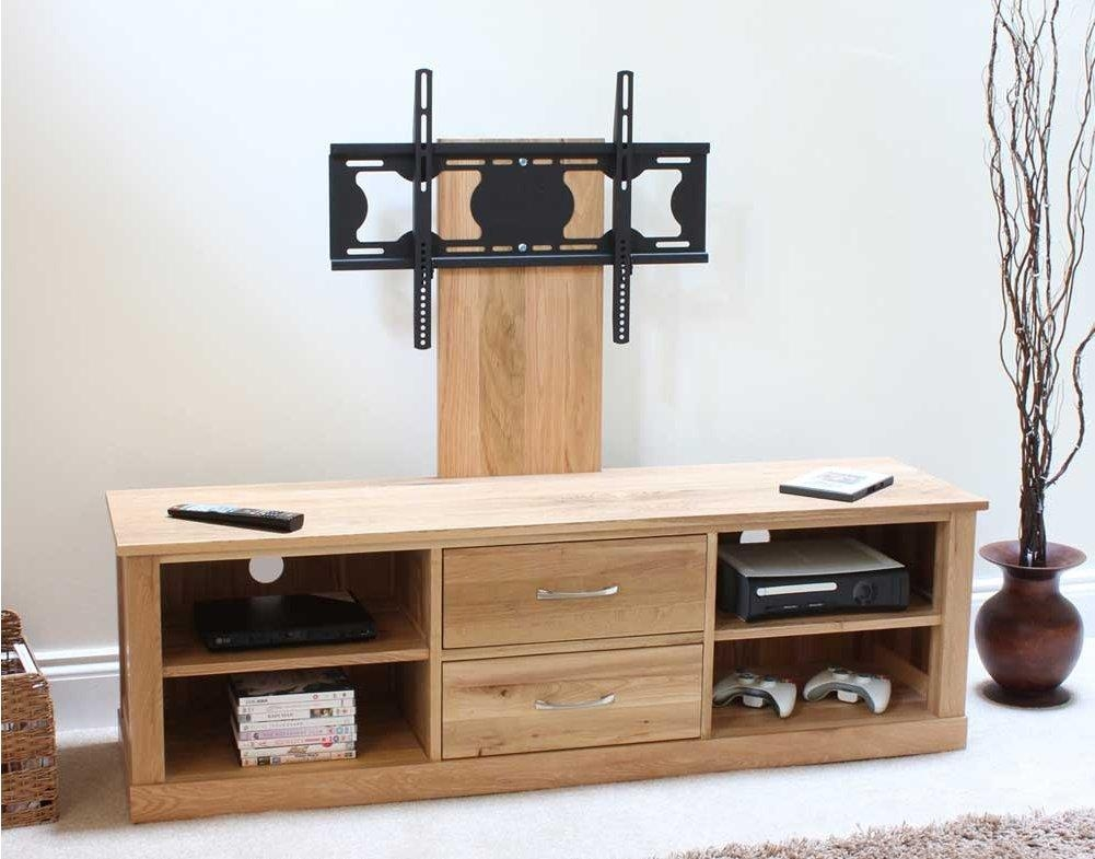 Mobel Oak Widescreen Tv Cabinet Within 2018 Widescreen Tv Stands (View 2 of 20)