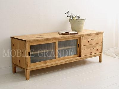 Mobilegrande | Rakuten Global Market: Tv Cabinet (W1400) Tv Board Pertaining To Most Current Rustic Pine Tv Cabinets (Image 6 of 20)