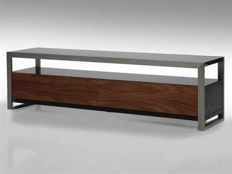 Mobital Brando 63 X 16 Rectangular Black/walnut Tv Stand Throughout Most Popular Rectangular Tv Stands (View 3 of 20)