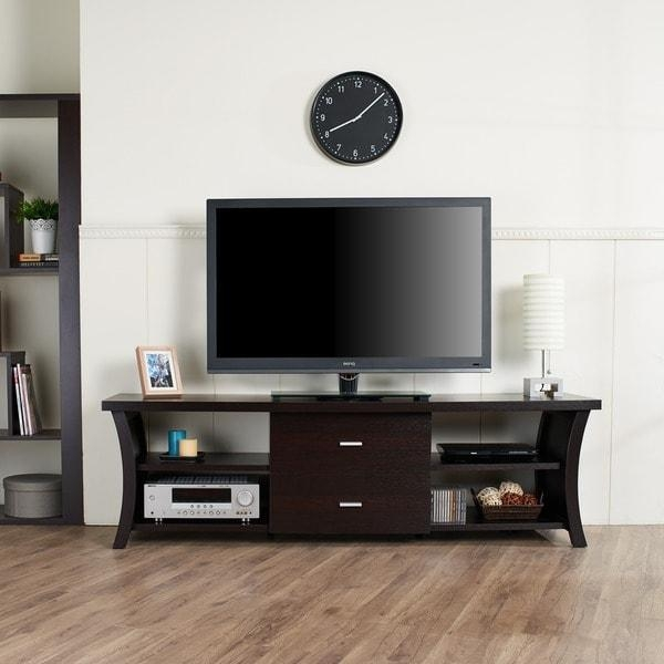 Modern 2 Drawer Tv Stand With Open Shelving – Free Shipping Today Inside Most Recently Released Tv Stands For 43 Inch Tv (View 19 of 20)