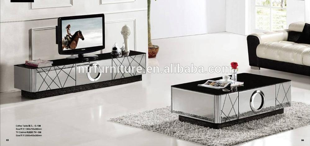 Modern Black And Silver Mirrored Tv Stand – Buy Unique Mirrored Tv Within Most Recently Released Mirrored Tv Stands (View 12 of 20)
