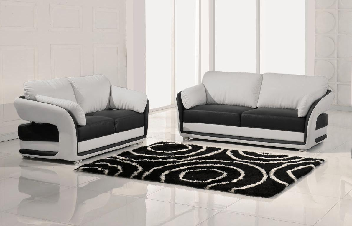 Modern Black And White Sofa | Rainbow Foam Factory Intended For White And Black Sofas (Image 18 of 21)