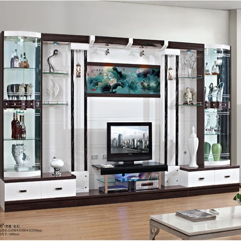 Modern Brief Fashion Cabinet Partition Glass Cabinet Office Pertaining To Most Current Wall Display Units And Tv Cabinets (Image 10 of 20)