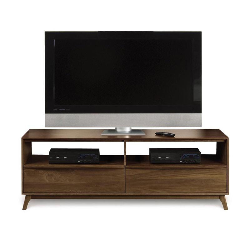 Modern Catalina Walnut Tv Stand Console | American Made | Mid Intended For Most Recent Walnut Tv Stands (Image 7 of 20)