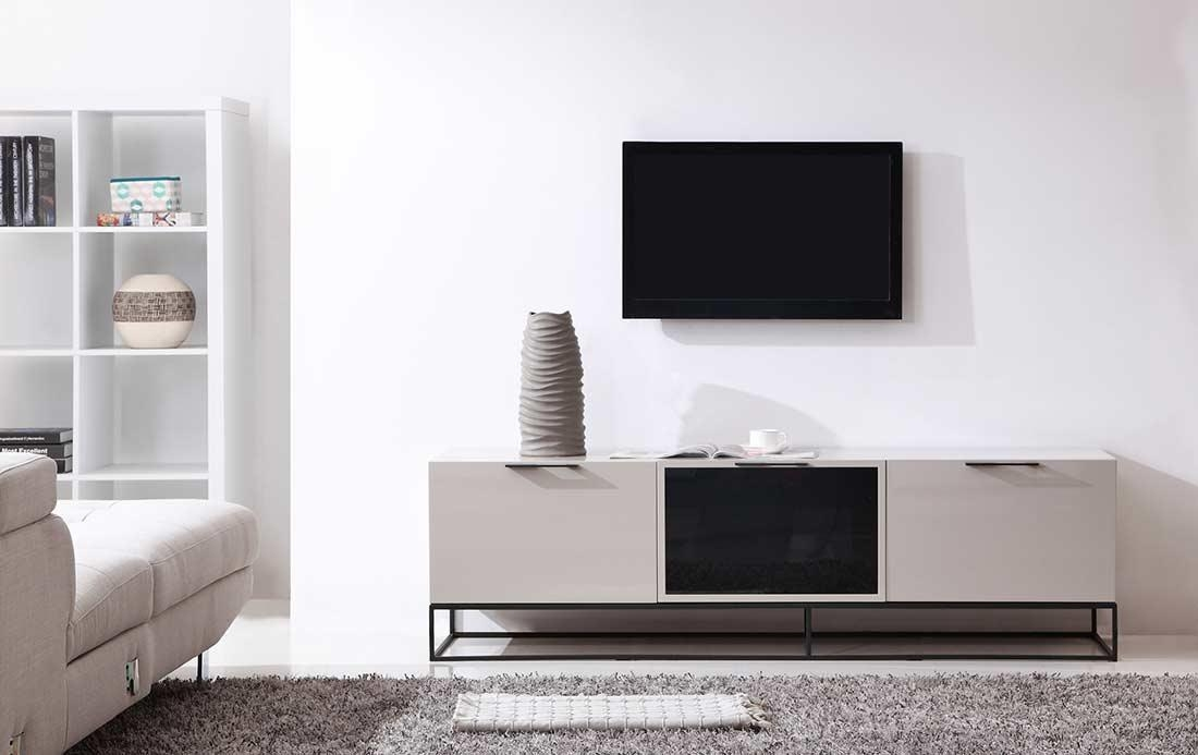 Modern Cream Black Tv Stand Bm35 | Tv Stands With Regard To Most Recently Released White And Black Tv Stands (Image 13 of 20)