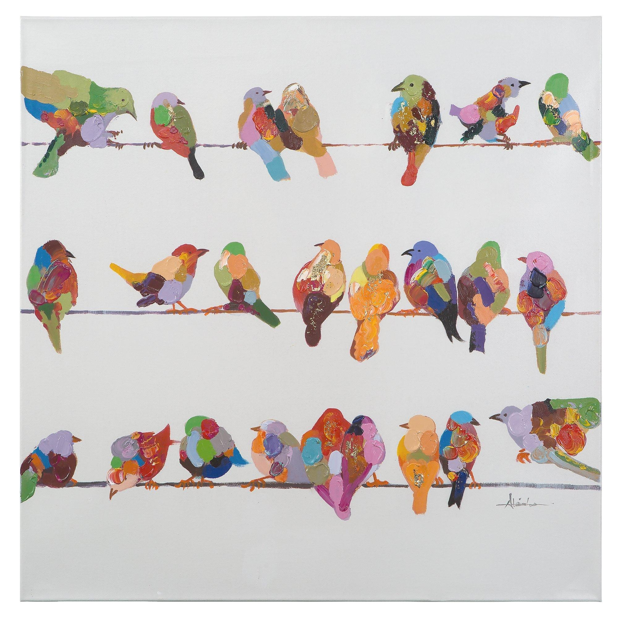 Modern Decoration Birds On A Wire Wall Art Attractive Inspiration With Regard To Birds On A Wire Wall Art (Image 17 of 20)