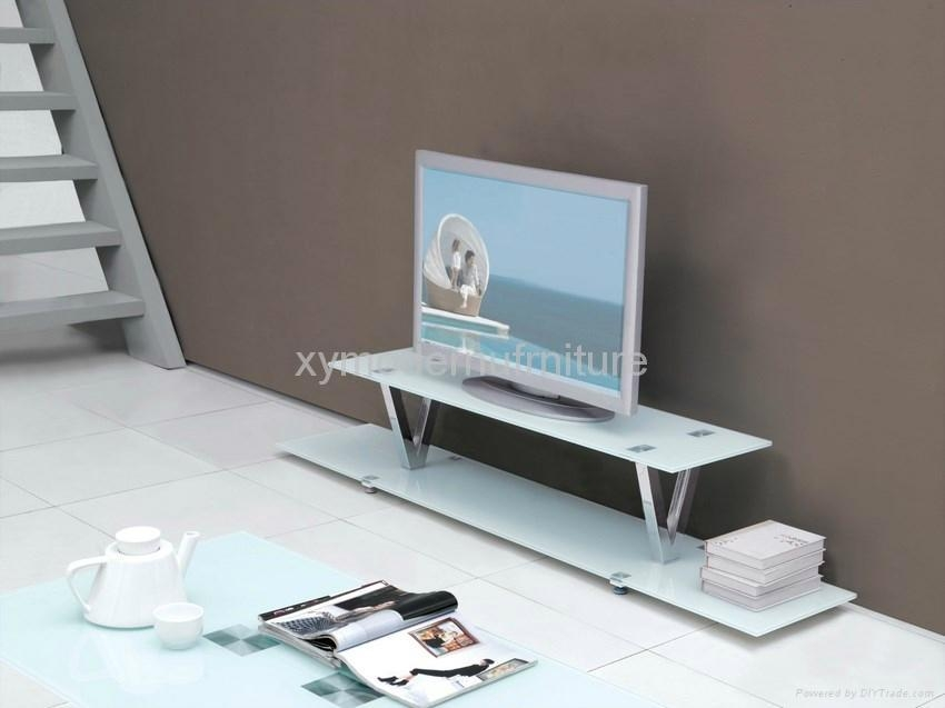 Modern Design New Style Tempered Glass Tv Stand – Xyts 022 – Xy With Regard To Current Contemporary Glass Tv Stands (View 8 of 20)