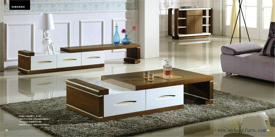 Modern Design, With Stretch Function Coffee Table And Tv Stand S Pertaining To 2018 Tv Stand Coffee Table Sets (View 2 of 20)