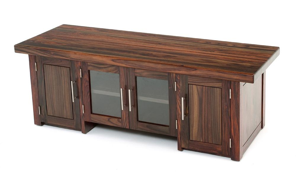 Modern Exotic Wood Entertainment Center, Solid Wood Tv Stand For Newest Wood Tv Entertainment Stands (View 11 of 20)