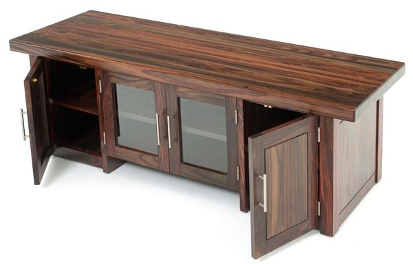 Modern Exotic Wood Entertainment Center, Solid Wood Tv Stand Throughout 2018 Wood Tv Entertainment Stands (View 12 of 20)