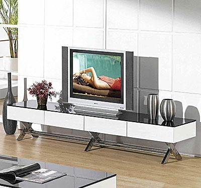 Modern Glossy White Tv Stand Cr059 | Tv Stands Within Newest Long White Tv Cabinets (View 8 of 20)