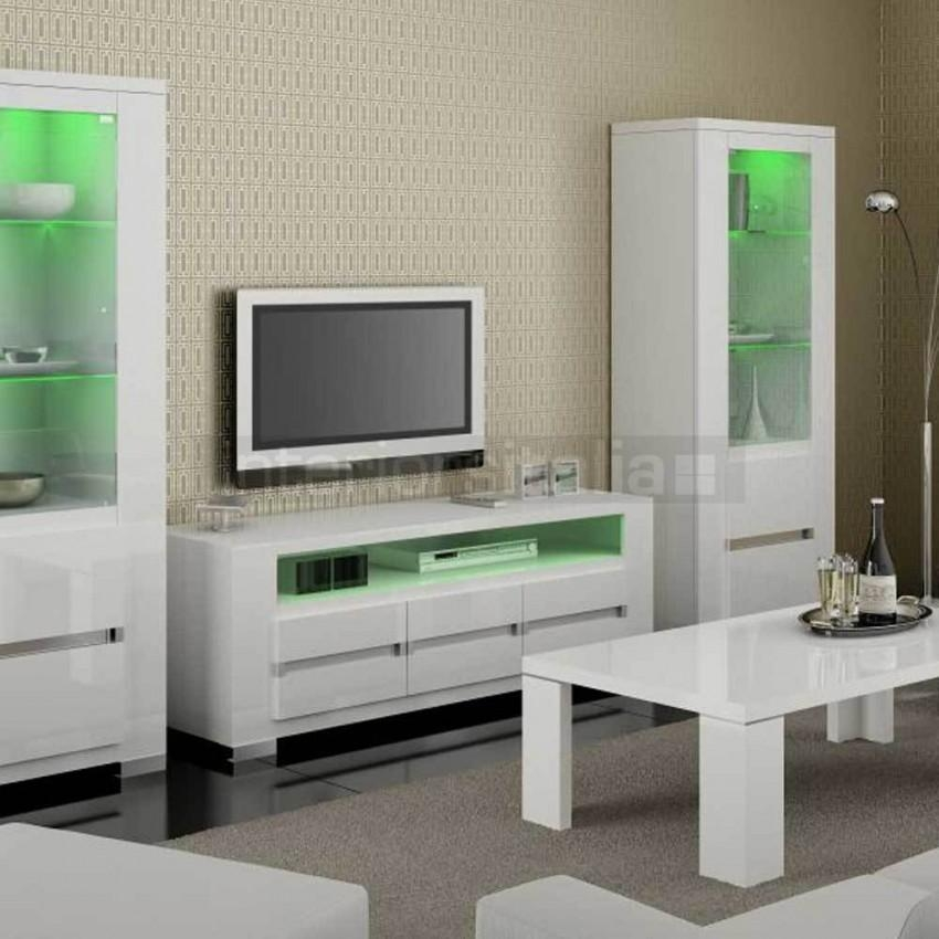 Modern High Gloss Tv Unit | Italian Elegance White | Sale Pertaining To Latest High Gloss Tv Bench (Image 9 of 20)