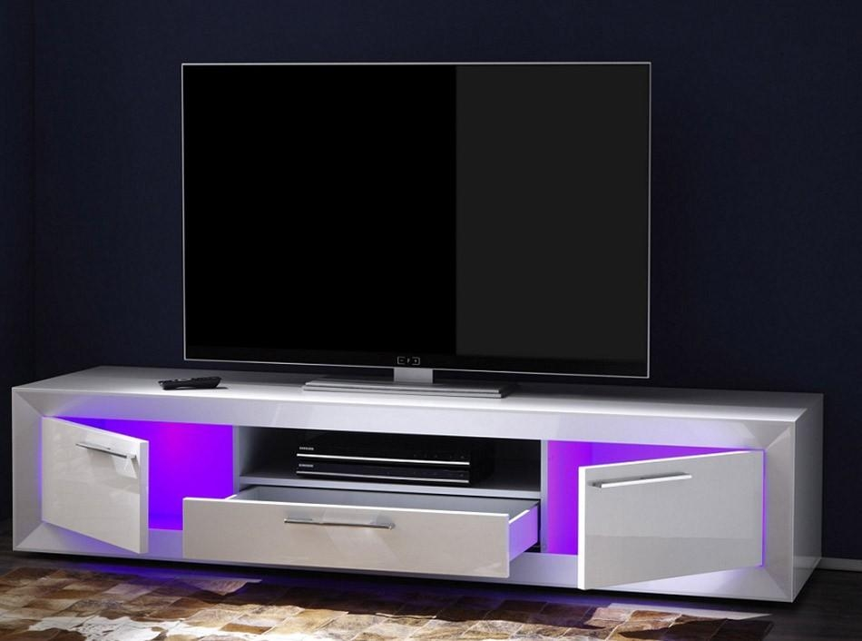 Modern Italian Tv Stand Salina Smalllc Mobili Pertaining To Newest Tv Stands With Led Lights (View 9 of 20)