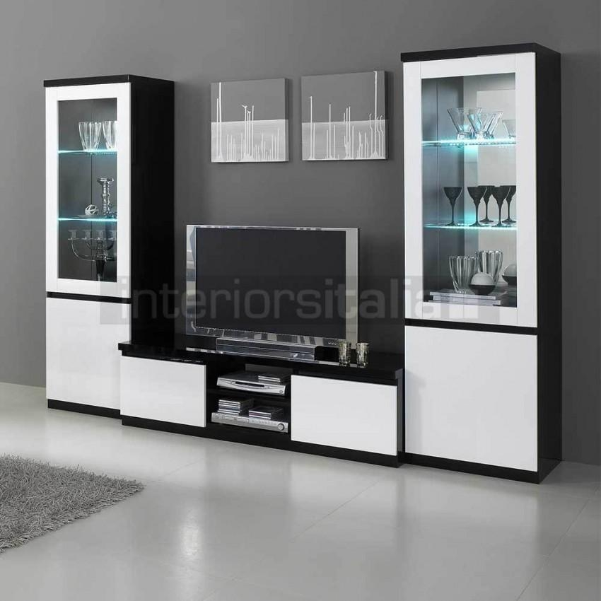 Modern Italian Tv Units | High Gloss Tv Stands | On Sale Now! pertaining to Best and Newest White And Black Tv Stands