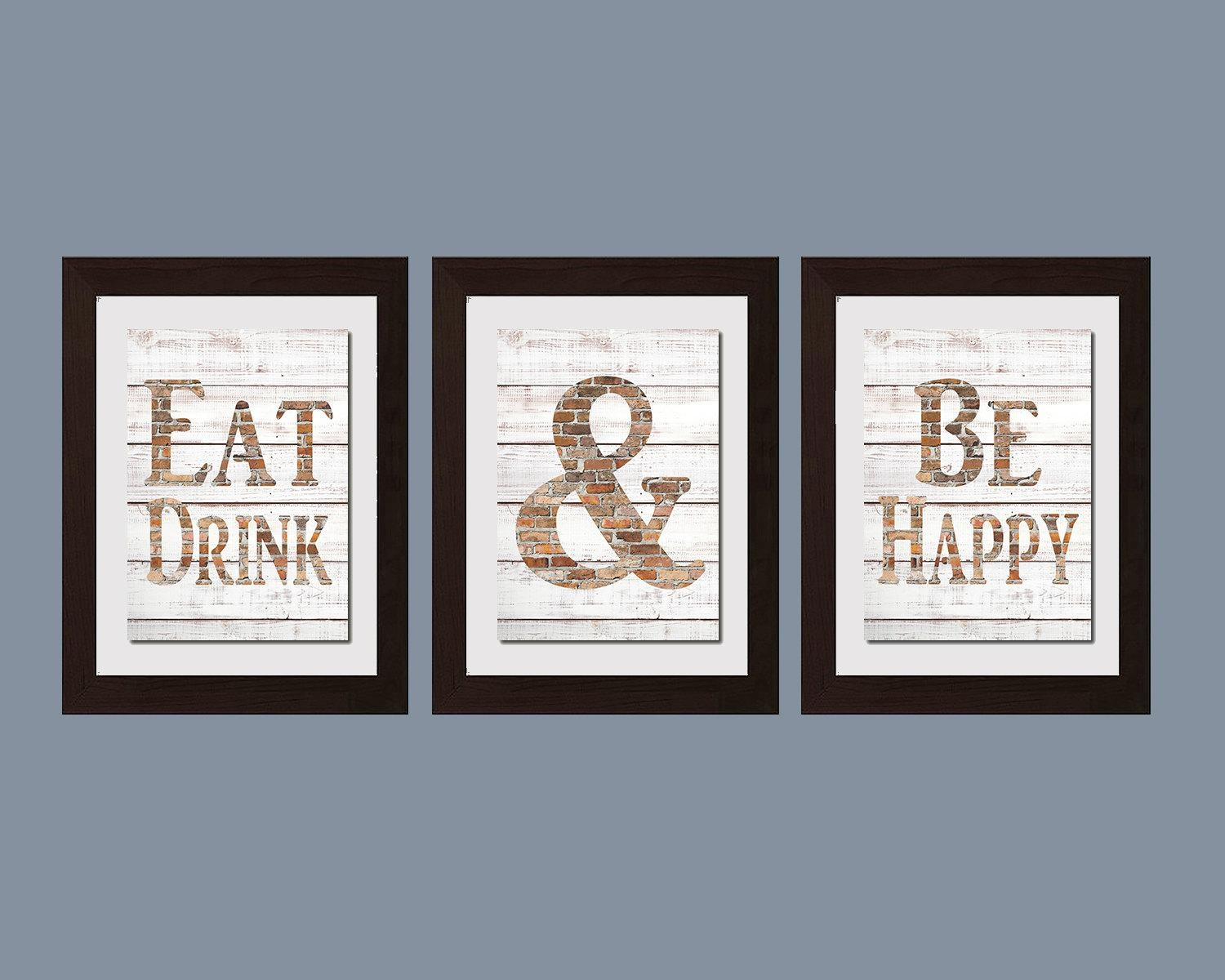 Modern Kitchen Wall Art Shabby Chic Wall Art Eat And Drink With Art For Kitchen Walls (Image 15 of 20)