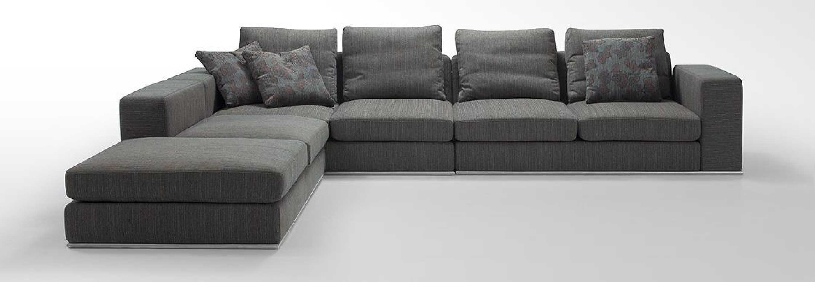 Modern L Shaped Sectional Sofa | Centerfieldbar Regarding L Shaped Fabric Sofas (View 7 of 20)