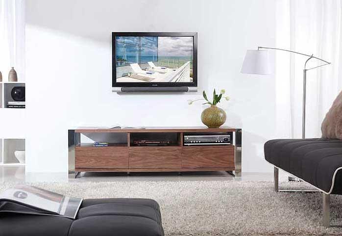Modern Light Walnut Tv Stand Bm4 | Tv Stands Intended For Best And Newest Modern Walnut Tv Stands (Image 9 of 20)