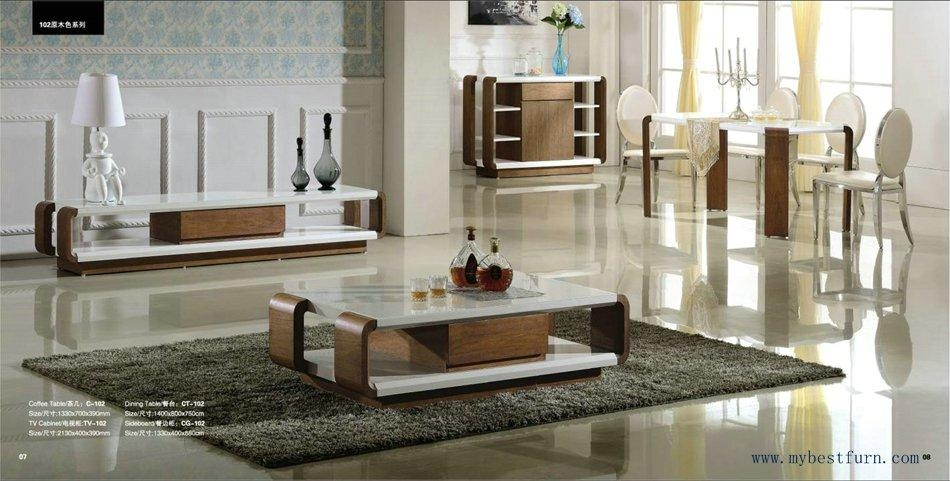 Modern Living Room Furniture Set, Coffee Table, Tv Stand, Dinnin Within Most Recently Released Tv Cabinet And Coffee Table Sets (Image 14 of 20)
