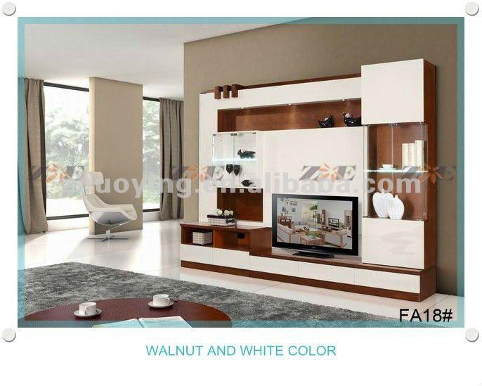 Modern Living Room Lcd Tv Stand Wooden Design Fa18B – Buy Living With Regard To Latest Modern Lcd Tv Cases (View 6 of 20)