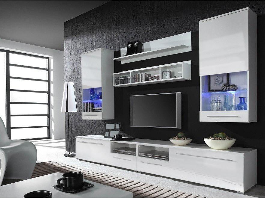Modern Luxury Wall Tv Unit Unique Modern Contemporary Tv Wall For 2018 On The Wall Tv Units (Image 9 of 20)