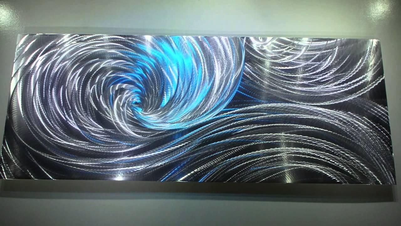 Modern Metal Art 3D Aluminum Sculpture Wall Decor Led Rgb Halogen For Swirl Metal Wall Art (Image 12 of 20)