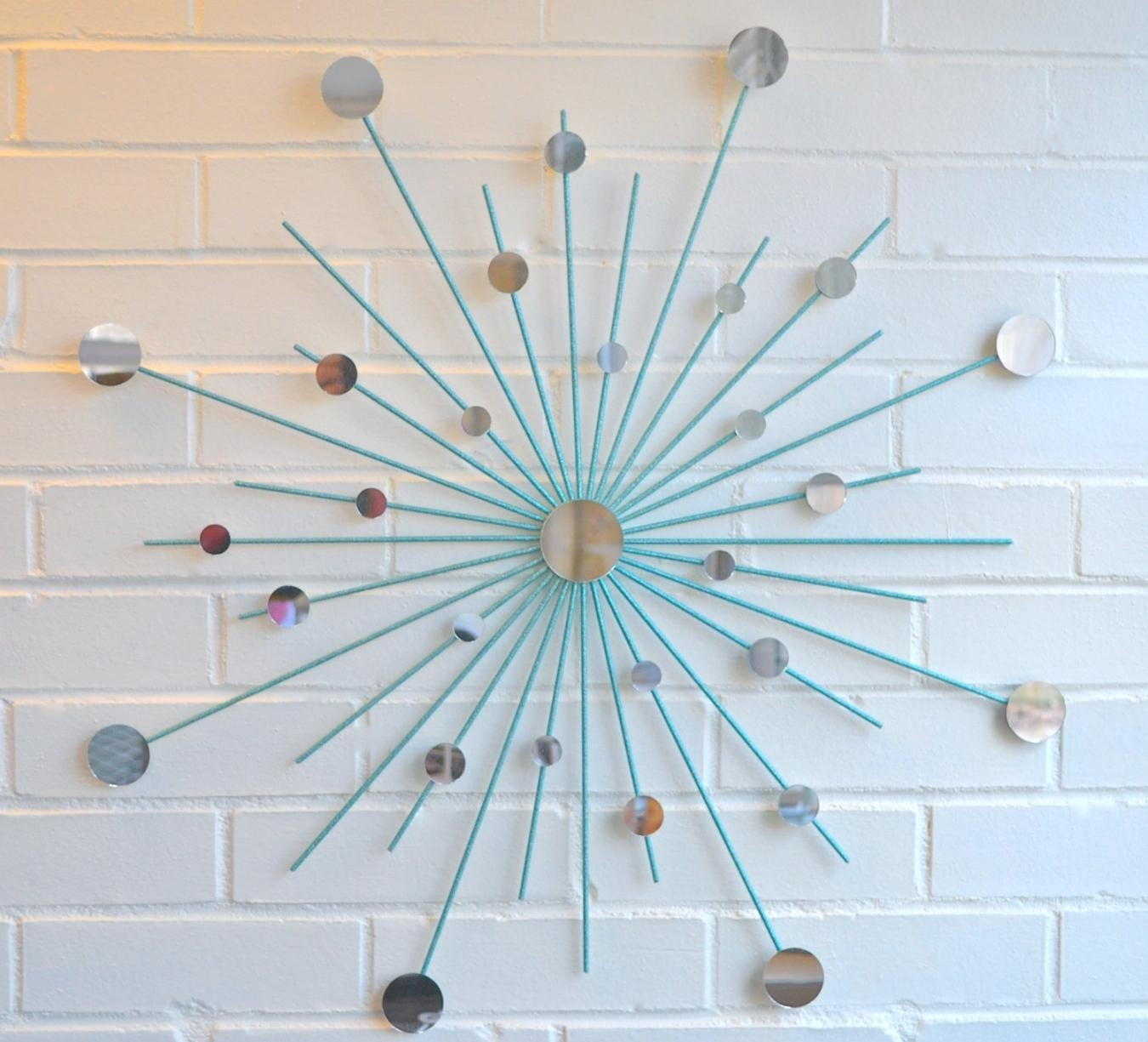 Modern Metal Wall Art Mirror Mod Style Star Starburst Sun Sunburst Inside Teal Metal Wall Art (Image 6 of 20)