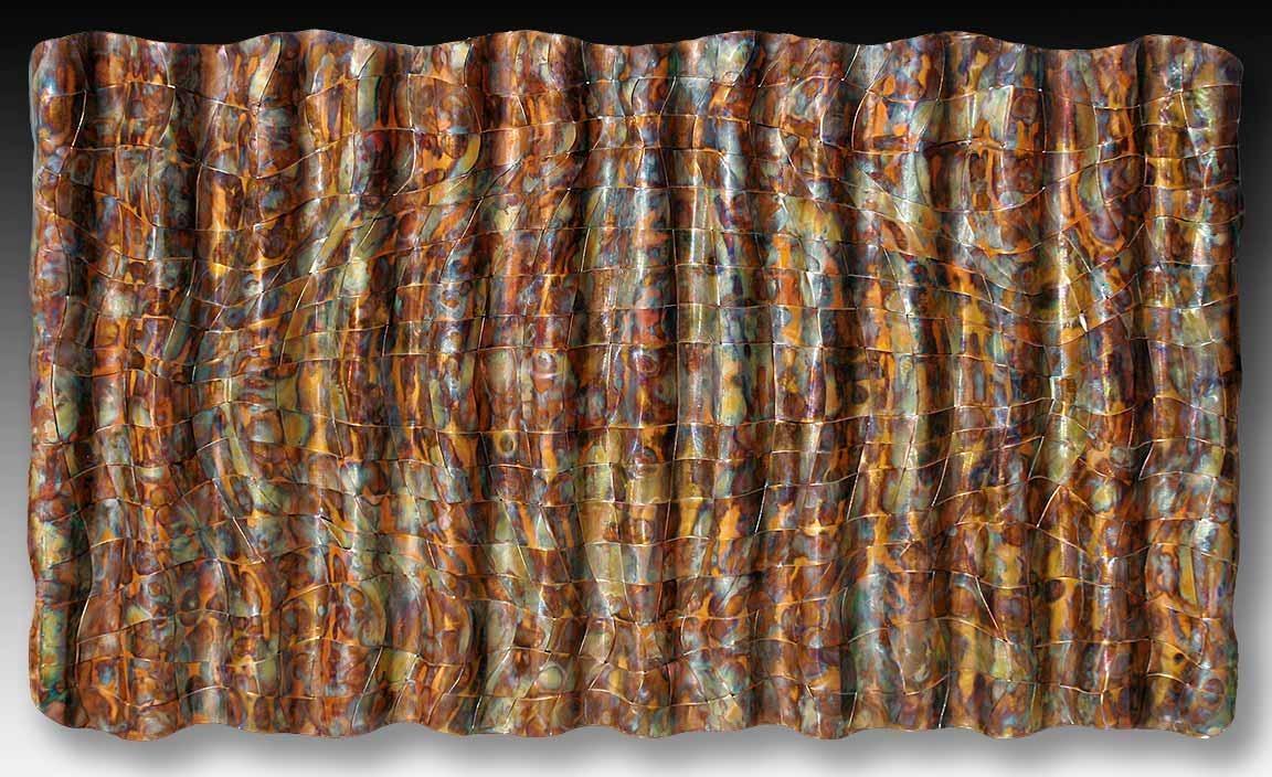 Modern Metal Wall Art > Woven Metal Modern Wall Art > Metal Weavings With Woven Metal Wall Art (Image 6 of 20)