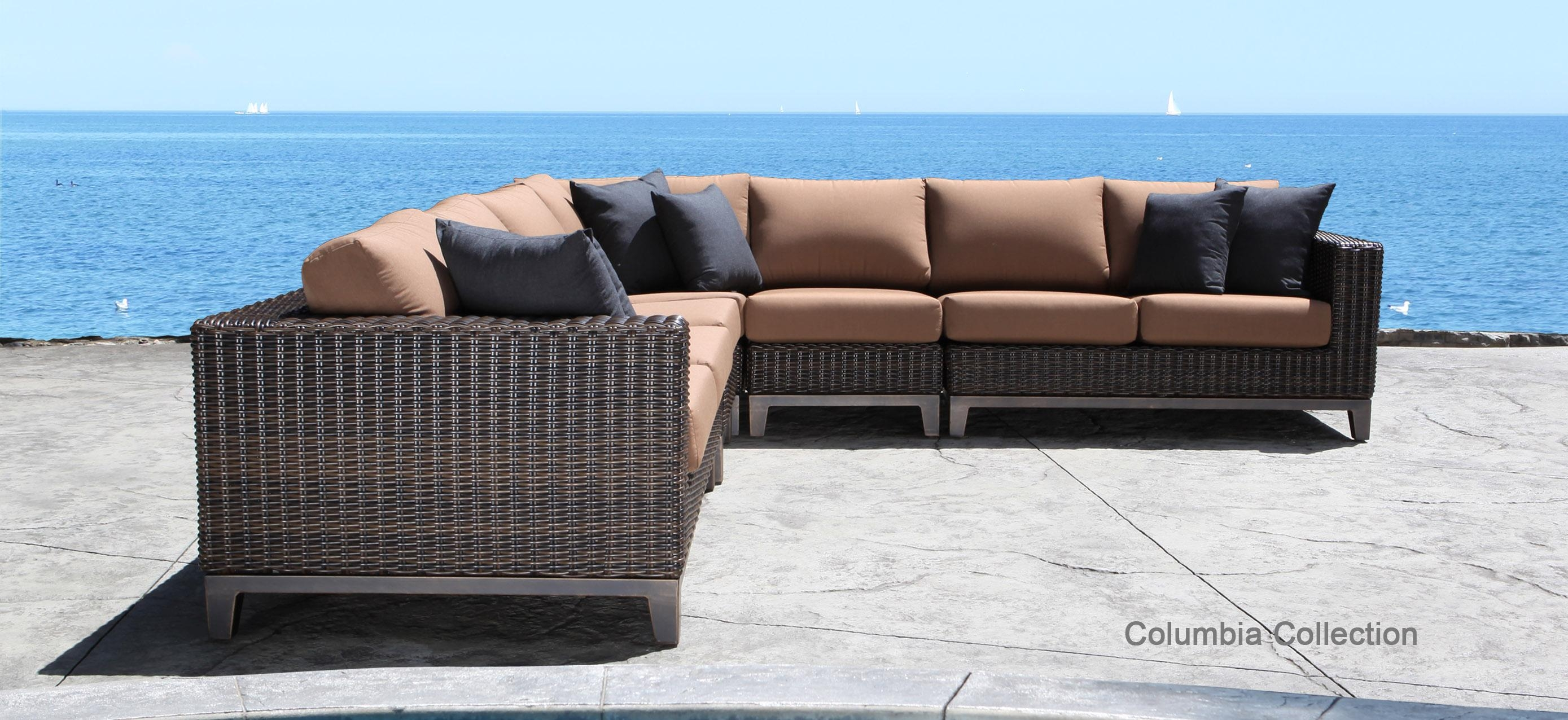 Modern Rattan Furniture And Outdoor Patio Sofas Image 16 Of 24 With Regard To Modern Rattan Sofas (Image 13 of 23)