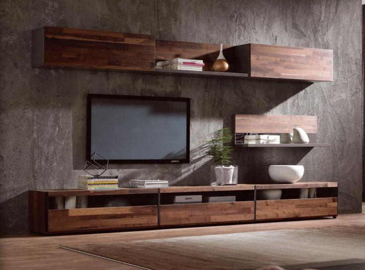 Modern Simple Tv Stand,walnut Wood Veneer Tv Cabinet – Buy Tv In Most Current Modern Wooden Tv Stands (Image 14 of 20)