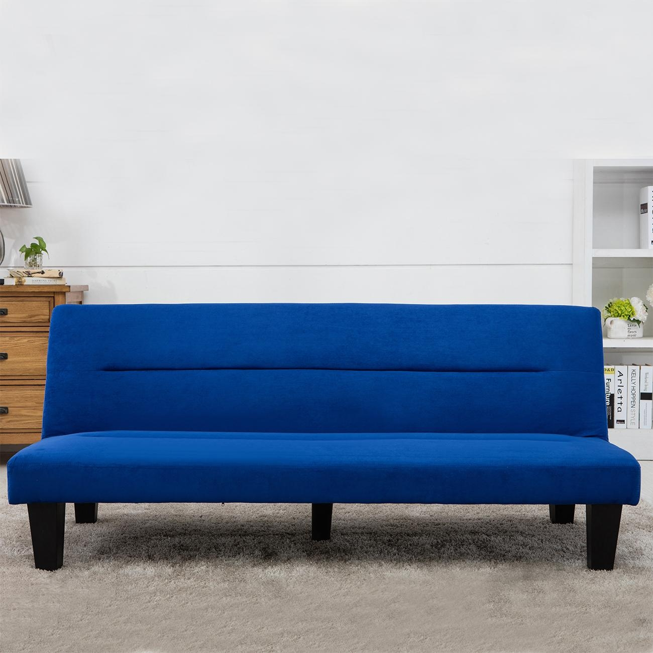 Modern Style Sofa Bed Futon Couch Sleeper Lounge Sleep Dorm Office Pertaining To Sofa Lounger Beds (Image 15 of 20)