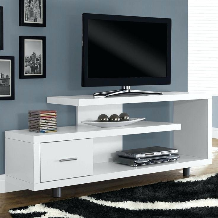 Modern Tv Stand Franco White Wall Mount Tv Stand Modern Designs Throughout Most Popular Modern Wall Mount Tv Stands (Image 10 of 20)