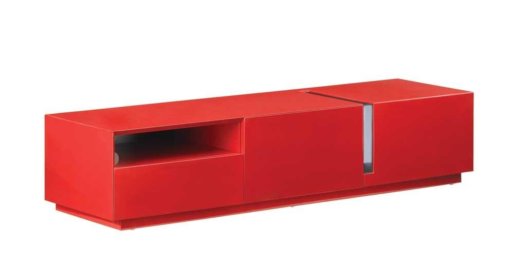 Modern Tv Stand In Red High Gloss, J&m Furniture – Modern Manhattan With Most Popular Red Tv Cabinets (View 2 of 20)