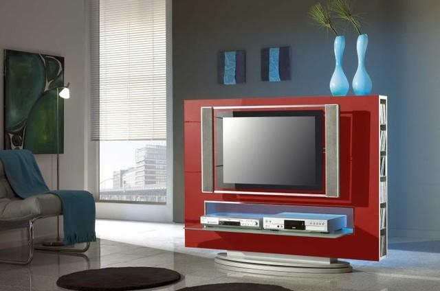 Modern Tv Stand Media 85 Red –  (Image 13 of 20)