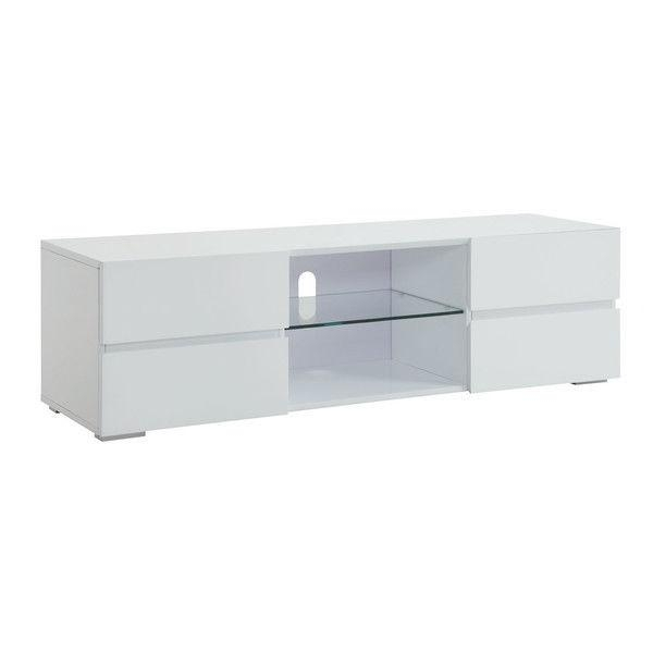 Modern Tv Stand Media Entertainment Center Console Cabinet Drawers With Regard To Most Up To Date Tv Cabinet Gloss White (Image 11 of 20)