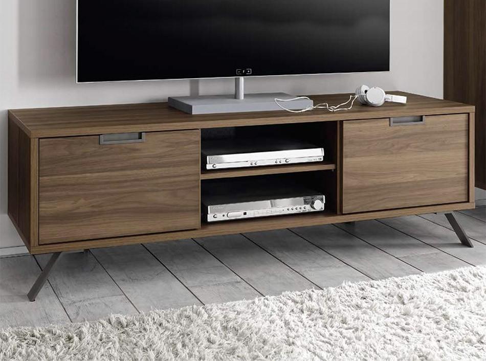 Modern Tv Stand Palma Walnutlc Mobili Regarding Most Current Walnut Tv Stands (Image 9 of 20)