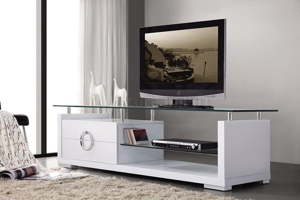 Modern Tv Stands For Flat Screens Glass Top : Charm And Modern Tv Pertaining To Latest Modern Tv Cabinets For Flat Screens (View 7 of 20)