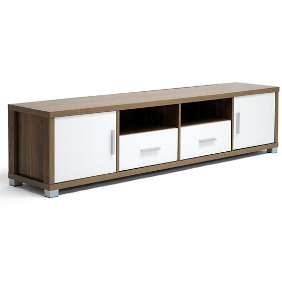 Modern Tv Stands With Storage In Latest Walnut Tv Cabinets With Doors (View 3 of 20)