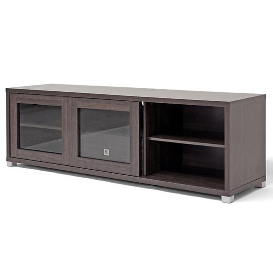 Modern Tv Stands With Storage Throughout Newest Wooden Tv Stands With Glass Doors (Image 14 of 20)
