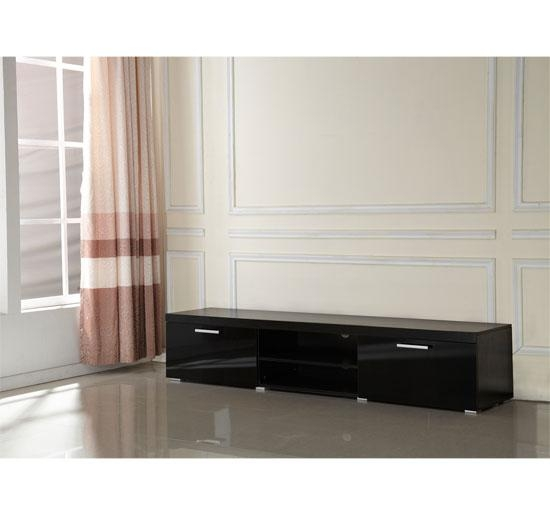 Modern Tv Unit Cabinet 2 Meter Long 2 Door Tv Stand Board Plasma Within Current Long Black Tv Stands (View 6 of 20)