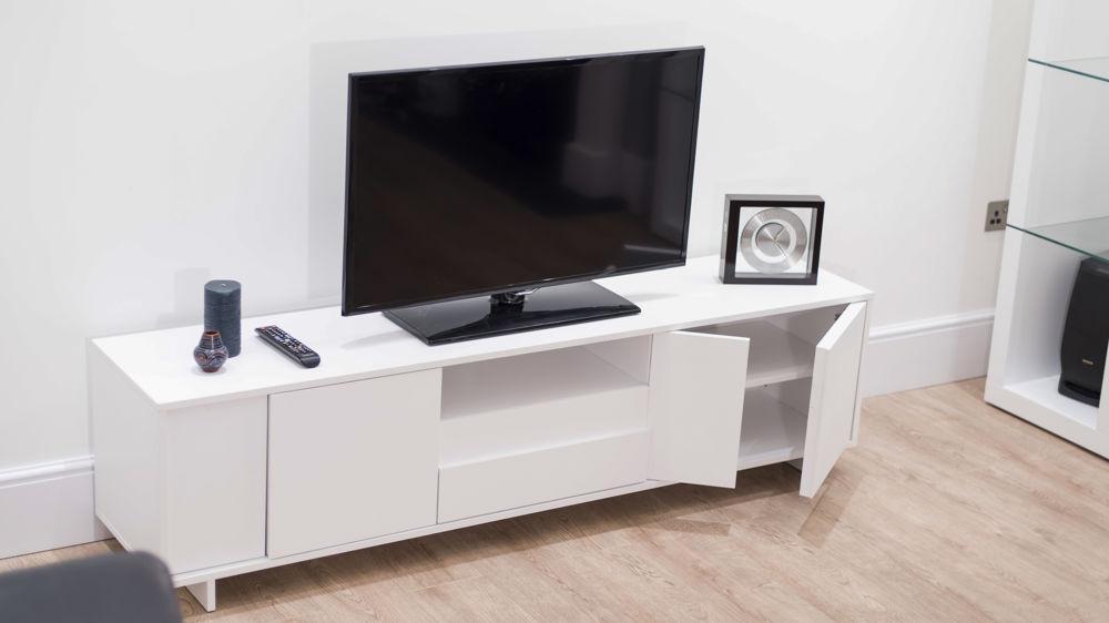 Modern Tv Unit | White Oak Veneer | Stylish Storage Cabinet Regarding Most Recent Oak Veneer Tv Stands (Image 14 of 20)