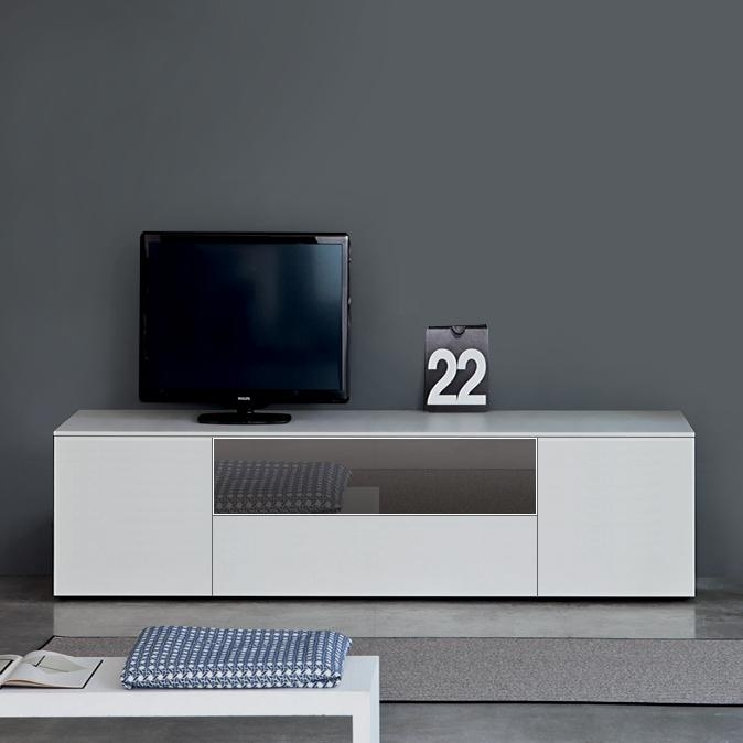 Modern Tv Units| Contemporary High Gloss Tv Units & Stands| Amode For Most Up To Date Glass Tv Cabinets With Doors (View 8 of 20)